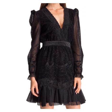 Černé krajkové šaty - JUST CAVALLI