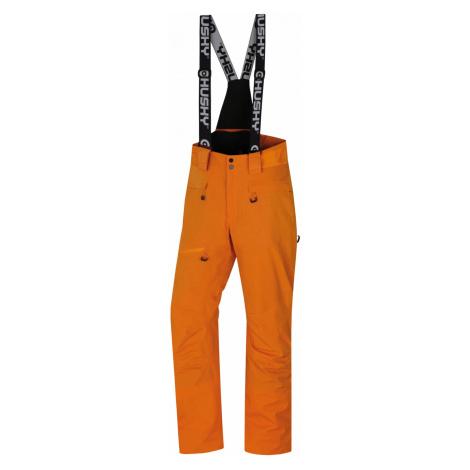 Husky Gilep pánské lyžařské kalhoty oranžové