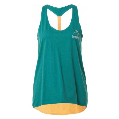 BURTON Sportovní top 'BALTRA' smaragdová / bílá / oranžová