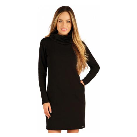 Dámské mikinové šaty s dlouhým rukávem Litex 7A090 | černá