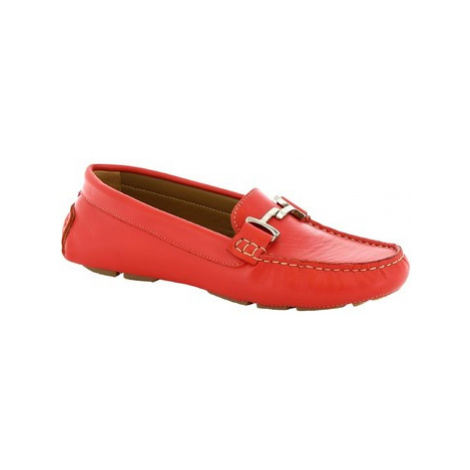 Leonardo Shoes 227 VITELLO ROSSO Červená
