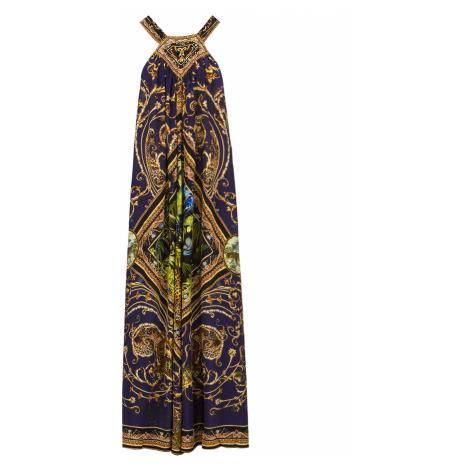 Šaty CAMILLA vzorkování|tmavomodrá