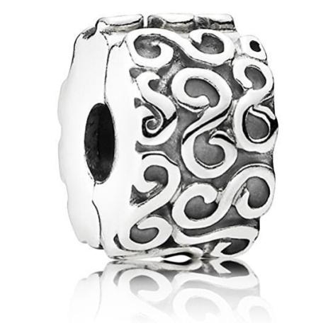 Pandora Stříbrný vlnitý klip
