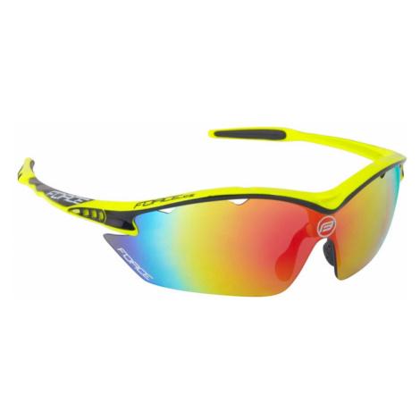 Cyklistické brýle Force RON fluo, multilaser skla