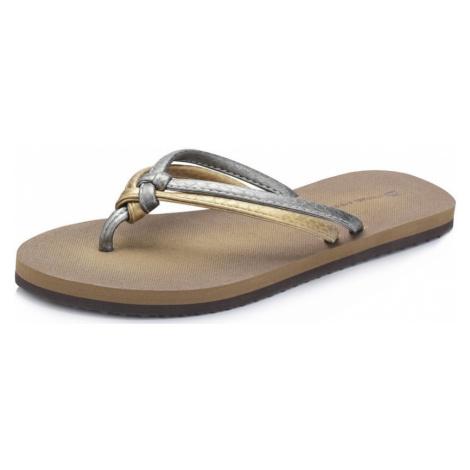 Dámská letní obuv Alpine Pro PRYRE - šedo - zlatá