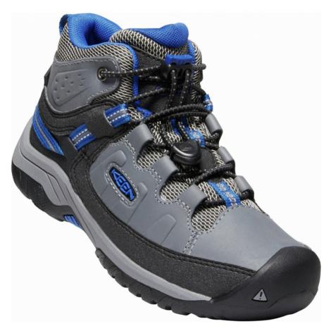 KEEN TARGHEE MID WP Y Dětská vysoká treková obuv 10008931KEN01 steel grey/baleine blue