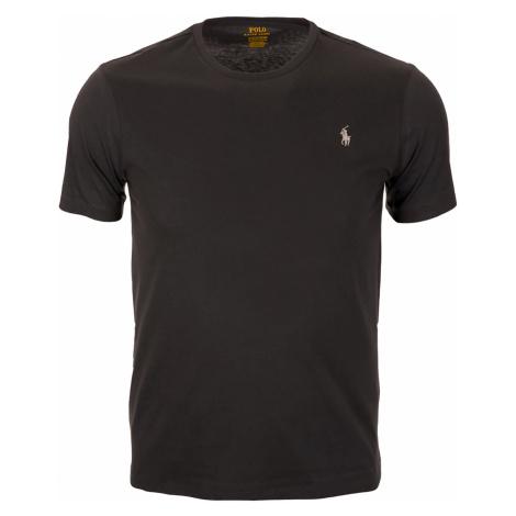 Pánské klasické černé tričko RALPH LAUREN Custom Slim Fit