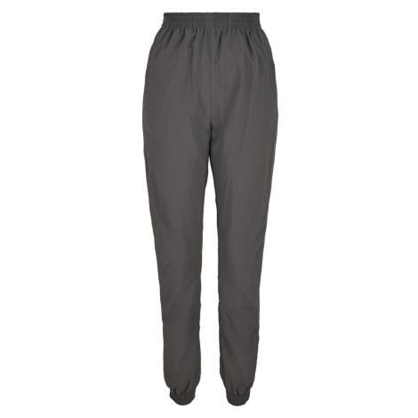Urban Classics Kalhoty bílá / čedičová šedá / limetková
