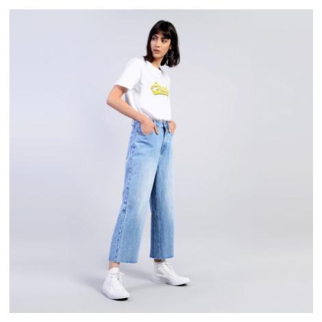 Světle modré džíny Cropped Straight Glamorous