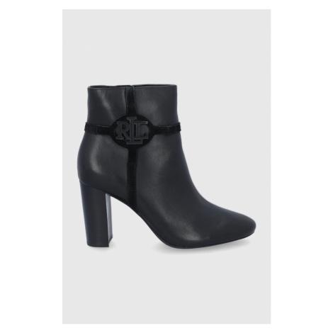Lauren Ralph Lauren - Kožené kotníkové boty