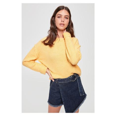 Trendyol Yellow Bicycle Collar Knitwear Sweater