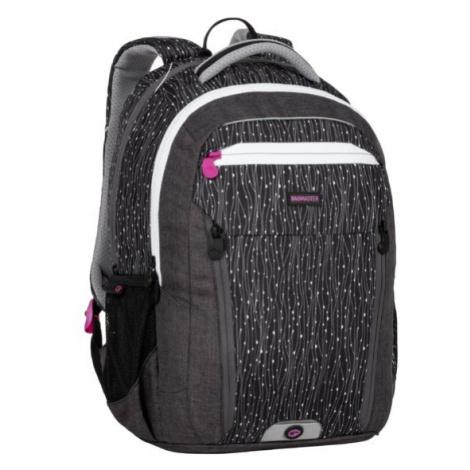 Školní batoh BAGMASTER BOSTON 20 A BLACK/GRAY/WHITE, nový zádový systém, design, pro holky, dvě