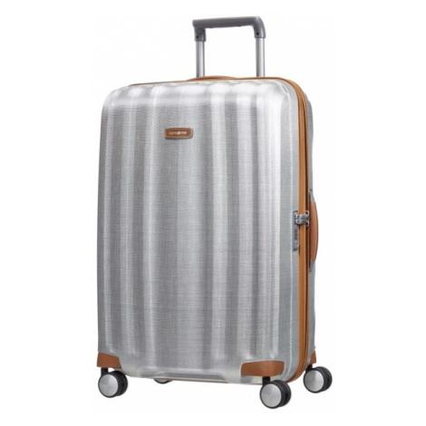 Samsonite Cestovní kufr Lite-Cube DLX Spinner 96 l - stříbrná