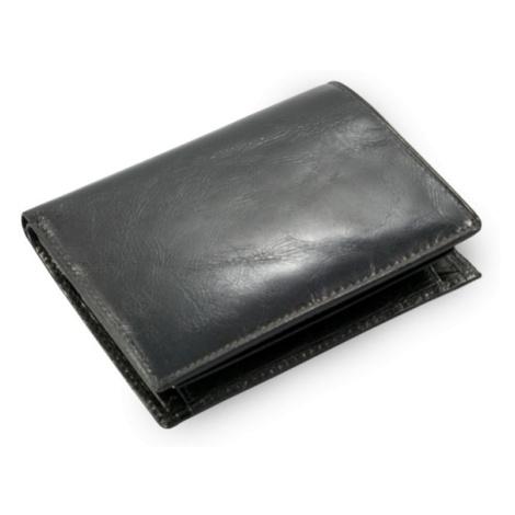 Černá pánská kožená peněženka a dokladovka Kaden Arwel