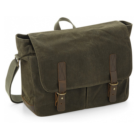 Messenger Heritage Waxed Canvas - olive Quadra