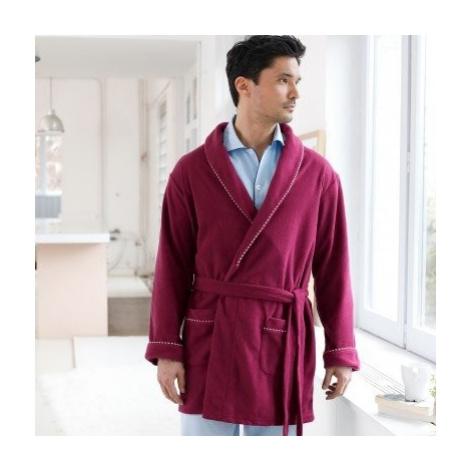 Blancheporte Domácí kabát z polar fleecu bordó