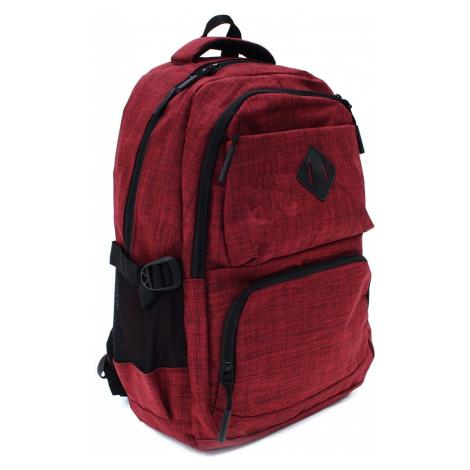 Červený studentský prostorný zipový batoh Maxton Tapple