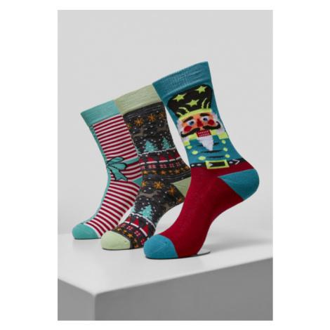 Urban Classics Christmas Nutcracker Socks 3-Pack multicolor