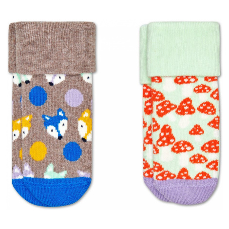 2-Pack Kids Fox Terry Socks Happy Socks