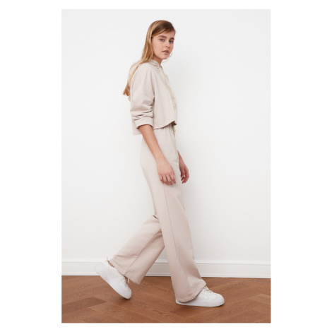 Trendyol Stone Wide Leg Knitted Tracksuit bottom