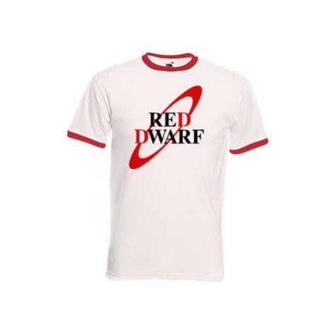 Pánské tričko s kontrastními lemy Červený trpaslík