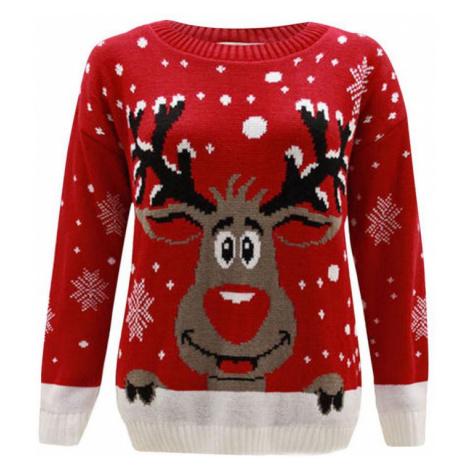 Dámský vánoční svetr se sobem - 2 barvy FashionEU