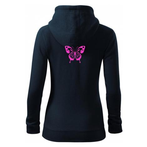 Motýl - Dámská mikina trendy zippeer s kapucí