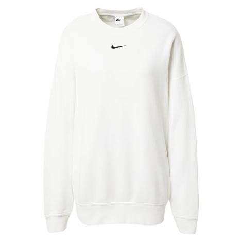 Nike Sportswear Mikina bílá / černá