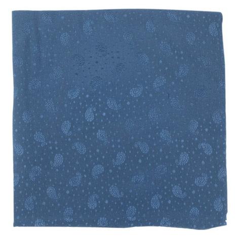 Tmavě modrý hedvábný kapesníček s paisley vzorem John & Paul