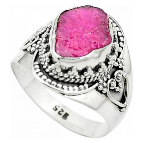 AutorskeSperky.com - Stříbrný prsten s rubínem - S2249