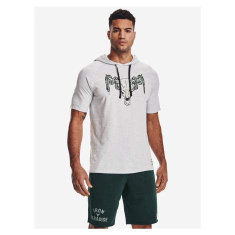 Project Rock Charged Cotton® Triko Under Armour Bílá
