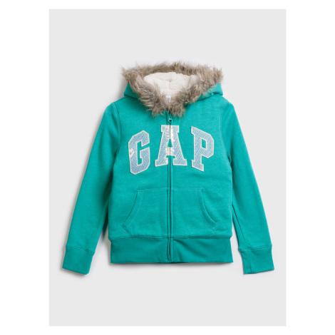 GAP zelené dívčí mikina