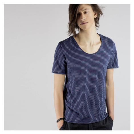 Tmavě modré pruhované tričko New Merce Selected