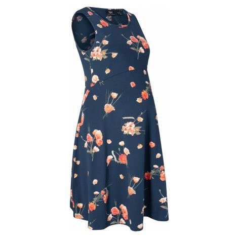Těhotenské šaty s květy Bonprix