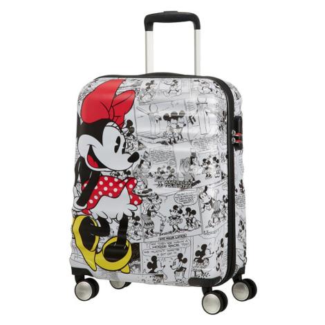 American Tourister Kabinový cestovní kufr Wavebreaker Disney Spinner 36 l - Minnie Comics White