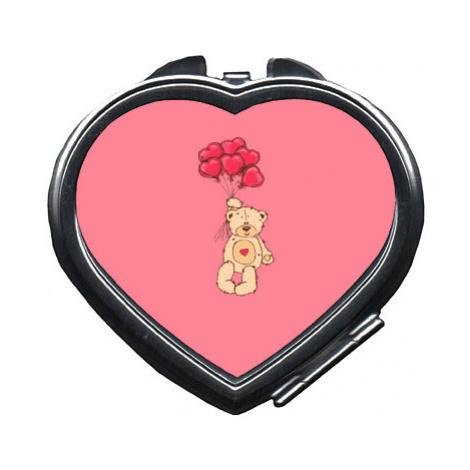 Zrcátko srdce Medvídek s balónky