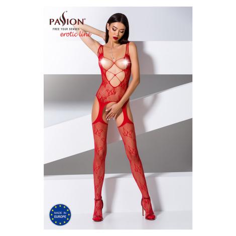 Červené bodystockings BS075 Passion