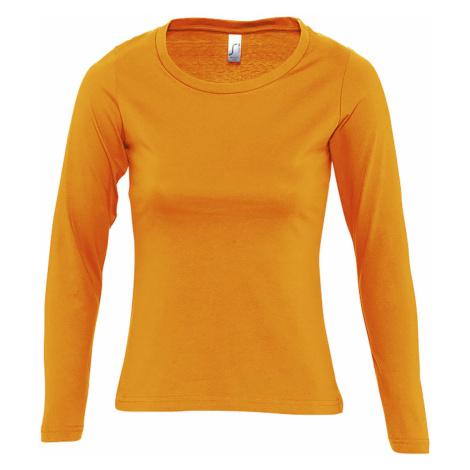 SOĽS Dámské triko s dlouhým rukávem MAJESTIC 11425400 Orange SOL'S