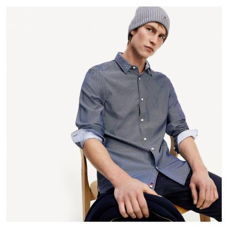 Tommy Hilfiger pánská modrá košile Dobby
