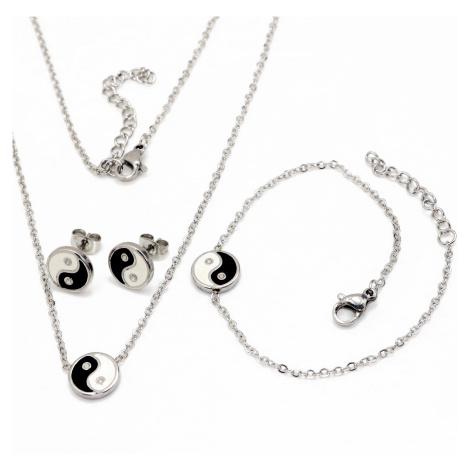 Linda's Jewelry Sada šperků Yin Yang chirurgická ocel IS053