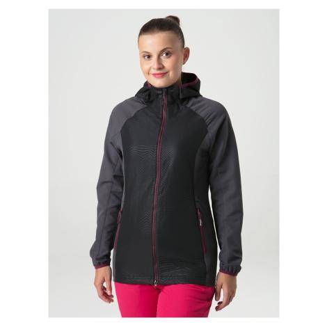Šedo-černá dámská softshellová bunda s kapucí LOAP Uriella