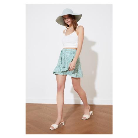 Trendyol Mint Ruffled Skirt