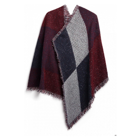 Červená dámská módní kostkovaná teplá šála Harper Lulu Bags
