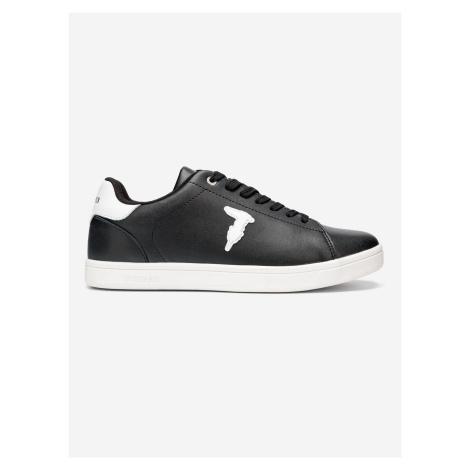 Boty Trussardi Sneaker Leather Rubber Patch Černá