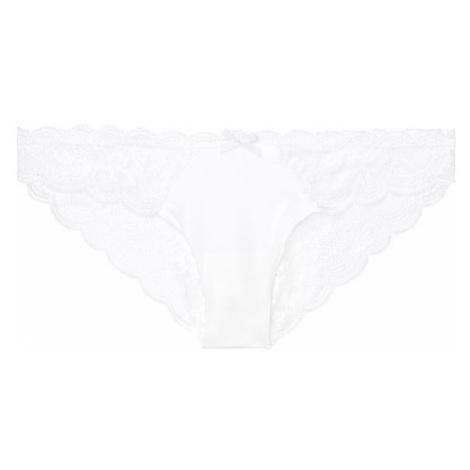Victorias Secret luxusní bílé kalhotky Floral Lace Cheekini Victoria's Secret