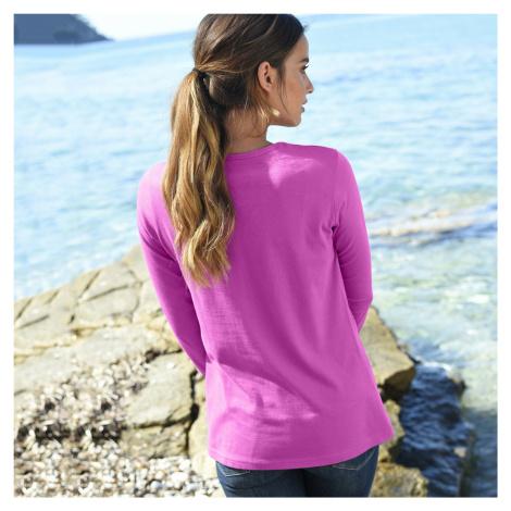 Blancheporte Tričko s dlouhými rukávy purpurová