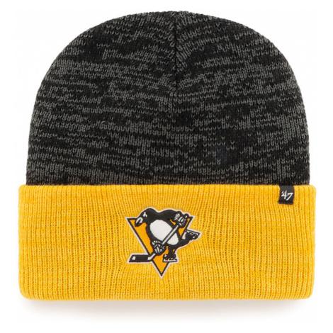 Zimní čepice 47 Brand Two Tone Brain Freeze Cuff Knit NHL Pittsburgh Penguins