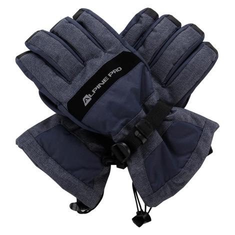 Unisex rukavice Alpine Pro MIRON - modro-šedá