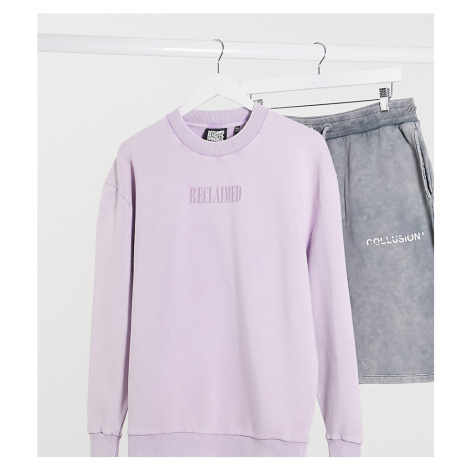 Reclaimed Vintage inspired logo sweatshirt in washed lilac-Purple