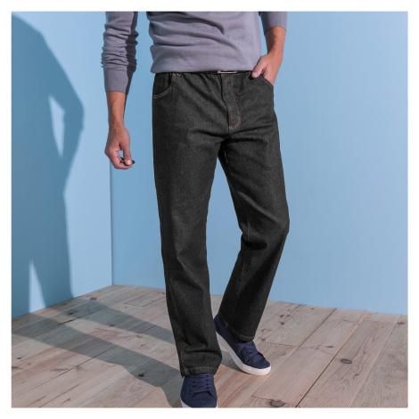 Blancheporte Pohodlné džíny, menší postava černá